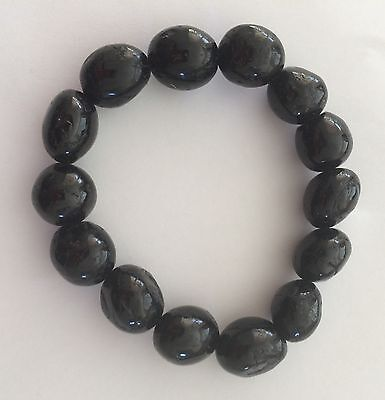 BLACK TOURMALINE CRYSTAL BRACELET ~ Protection Against Negative Energies