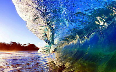 "012 GIANT WAVE - Sea Surfing 38""x24"" Poster"