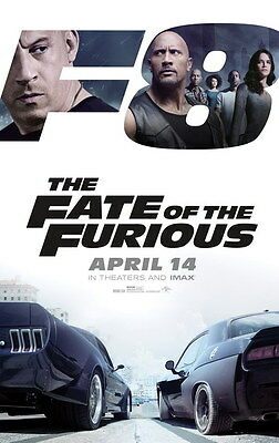 """019 Fast and Furious 8 - Vin Diesel Car Race Ation 2017 Movie 24""""x38"""" Poster"""