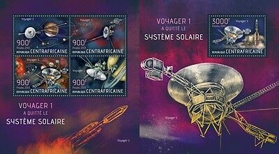 CA13518ab Central África 2013 Voyager 1 MNH JUEGO
