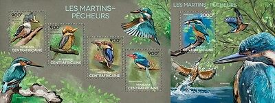 CA14619ab Central África 2014 Kingfishers MNH JUEGO