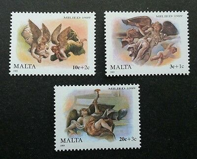 Malta Christmas Angels 1989 Festival (stamp) MNH