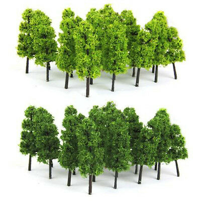 20pcs Model Trees Train Railroad Diorama Wargame Park Scenery HO scale 60mm Mini