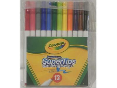 Crayola - Supertips Washable Markers 12 Pack