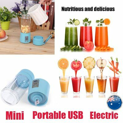 Mini Portable USB Electric Fruit Juicer Smoothie Maker Blender Rechargeable BU