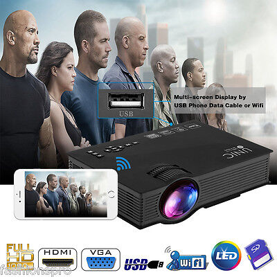 Newly UNIC UC46 Projector Multiscreen Double Audio Out Interfaces Home Theater