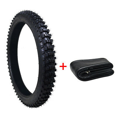 "3.00-21 80/100- 21"" 21 inch Front Knobby Tyre Tire +Tube PIT PRO Trail Dirt Bike"