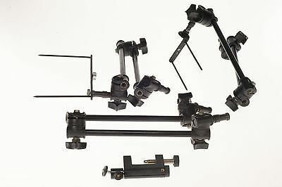3 x Manfrotto 196B-2 ; 3 x  single arms + ACCESSOIRES, perfect working Condition