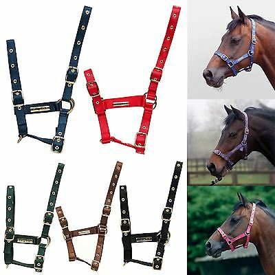 Cottage Craft Quality Nylon Webbing Nose Throat & Cheek Adjustable Headcollar