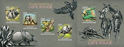 CA14314ab Central África 2014 Red List MNH JUEGO
