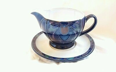 Denby Baroque Sauce/gravy Boat With Stand