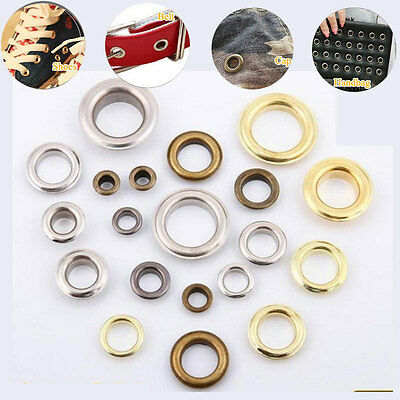 50x Eyelets Buckle Scrapbook Apparel Stamping Metallic Materials Leather Craft
