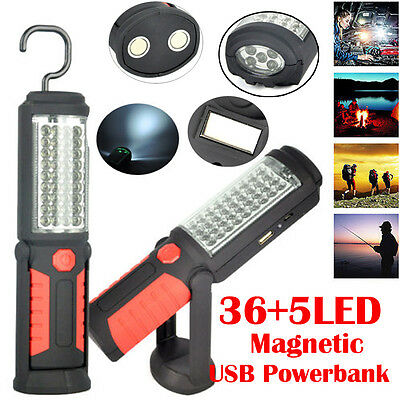 41LED Rechargeable Stand Inspection Work Light Tent Flashlight Power Bank Magnet