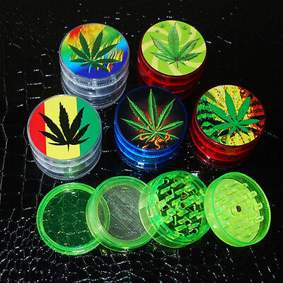 4 Layer Leaf Herbal Herb Tobacco Grinder Smoke Spice Crusher Hand Muller Gift