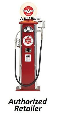 Morgan Cycle Steel Gas Pump Lamp Clock Flying A Red Vintage Antique Style - New