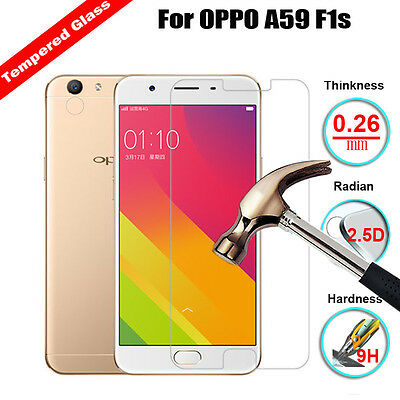Premium Real Tempered Glass Film Screen Protector Cover Saver For OPPO A59 F1s