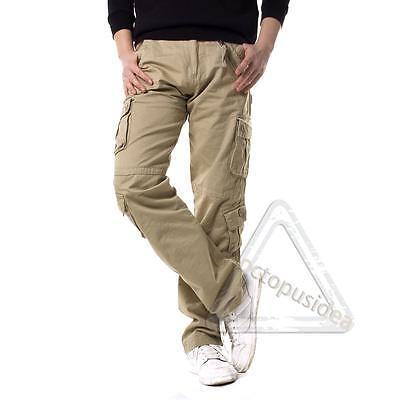 New Men Multi-pocket Work Trousers Military Army Cargo Camo Combat Fashion Pants