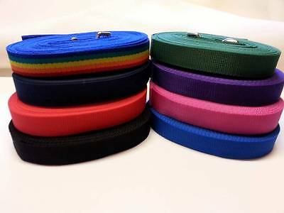 TOP QUALITY, TRAINING/TRACKING/LUNGE/REIN/LEADS Dog horse webbing Line