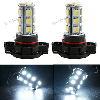 2x PSX24W 5050 18SMD LED Car Driving Fog Light Bulbs Replacement Lamp White 12V
