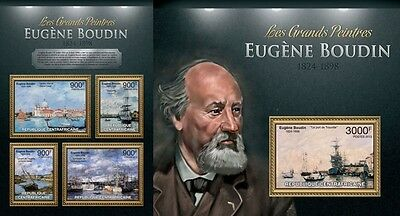 CA13125ab Central África 2013 Eugene Boudin MNH JUEGO