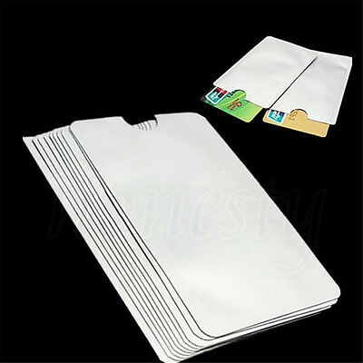 10/20/40pcs RFID Passport Credit Card Holder Protector Blocking Shield Bag
