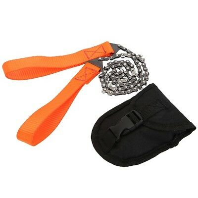 Outdoor Camping Hiking Survival Hand Saw Chain Emergency Pocket Gear Fast Cut