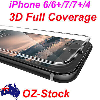3D Full Coverage cover Tempered Glass Screen Protector For iphone 6 6s 7 plus 4