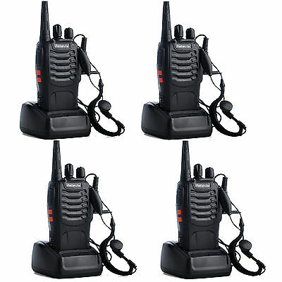 4PACK Walkie Talkie Retevis H-777 UHF 5W 16CH CTCSS/DCS Rechargeable FM Radio UK