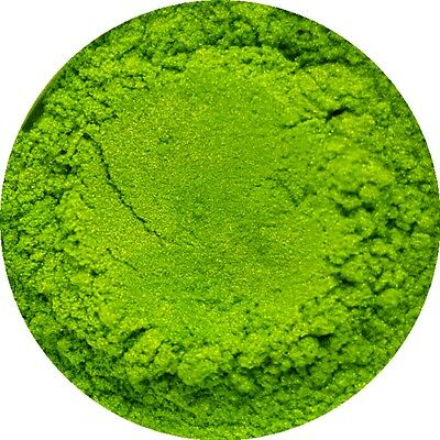 Lime Green Cosmetic Mica Powder 3g to 50g Pure Soap Bath Bomb Colour Pigment