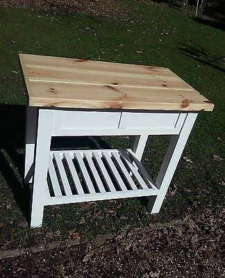 Island Unit butchers block Handmade Shabby Chic choose your colour solid wood