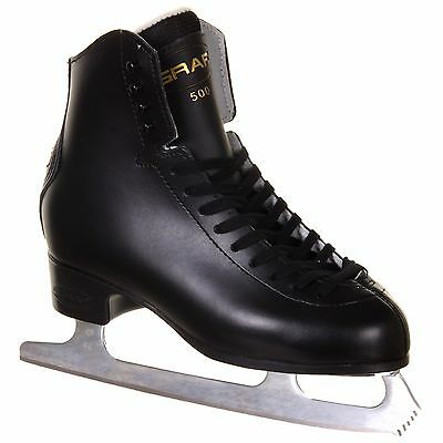 Graf 500 Figure Skates Black COMPLETE WITH BLADES - eur 39 or 41 - Free Postage