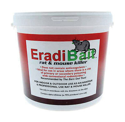 Eradibait Rat and Mouse Killer 3kg tub,safe for children,poultry,dogs,cats & pet