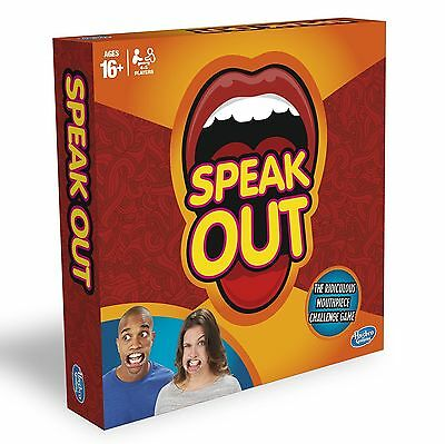 Genuine Hasbro Licensed Speak Out Game Official Board Mouthpiece Game 16+