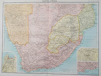 Map of South Africa. 1898. CAPE COLONY. TRANSVAAL Bartholomew