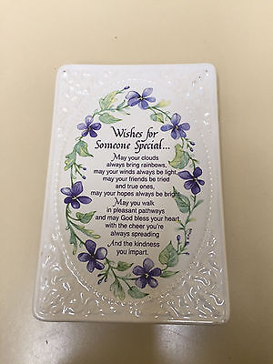 """""""WISHES FOR SOMEONE SPECIAL"""" Ceramic Plaque (5"""" x 7.5"""") (NEW IN GIFT BOX)"""
