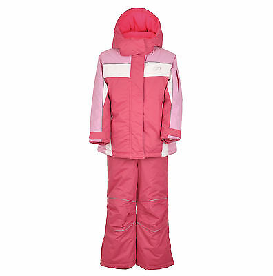 Kids Children Girls Ski/Snow Suit Set Jacket/Pants Pink Red Size1-10 Waterproof