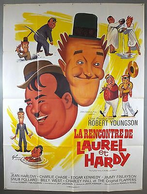 The Further Perils Of Laurel And Hardy - Original French Grande Movie Poster
