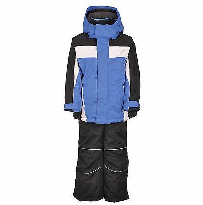 Kids Children Boys Ski/Snow Suit Jacket/Pants Blue/Black SZ1-10 Water/Wind Proof