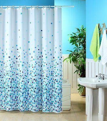 Shower Curtains Curtain Mosaic Patterned Polyester Design Standardsize With Hook