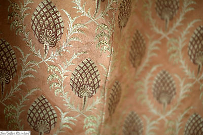 Antique French curtains SILK jacquard INDIENNES BOTEH Persan c1880