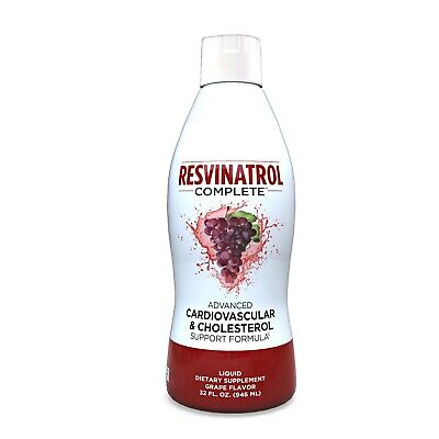 Resvinatrol Complete 32 Oz Liquid Resveratrol Supplement Heart Health Support
