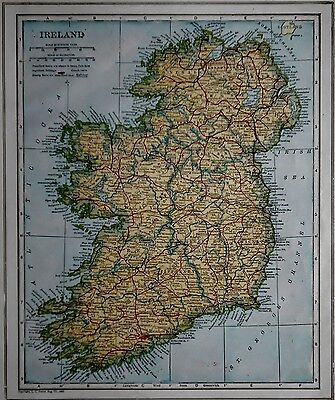 Awesome Antique 1923 Atlas Map World War WWI Ireland, Norway & Sweden OLD L@@K!