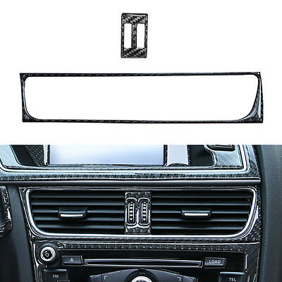 Carbon Fiber Console Air Conditioning Outlet Frame Cover Trim For Audi A4 B8
