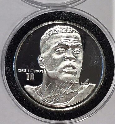 Kordell Stewart QB Pittsburgh Steelers NFL 1 Troy Oz .999 Fine Silver Round Coin