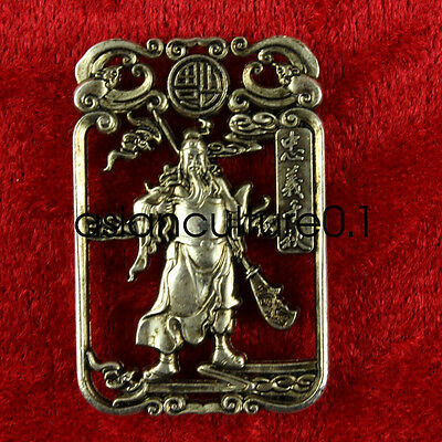 China Decorated Wonderful Miao Silver Guan Yu Lifelike Kylin Rare Lucky Pendant