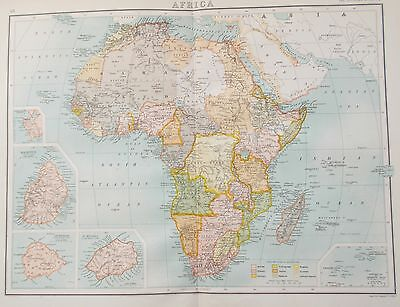 Map of  Africa. 1898. CONGO EGYPT RHODESIA SOUTH AFRICA  Bartholomew