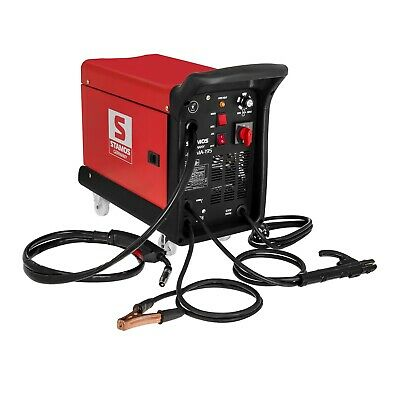 Combined Welder Mig Mag Mma Fcaw Mobile Use Carrying Handles 230V 195A With Mask