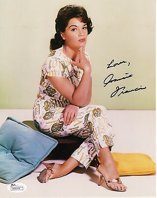 CONNIE FRANCIS HAND SIGNED 8x10 COLOR PHOTO      BEAUTIFUL YOUNG POSE       JSA