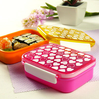 Japanese Mini Plastic Bento Lunch Box pastry sushi Food Container Storage Box