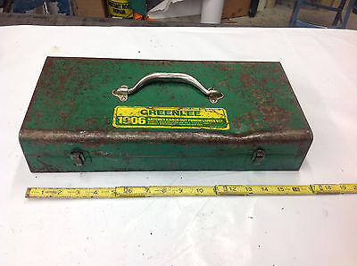 EMPTY Greenlee 1906 Ratchet Knockout Punch Driver Set STORAGE BOX ONLY.